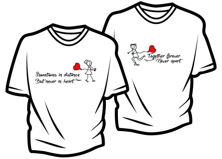Free Ready To Print Long Distance Relationship, Couple T-Shirt Designs (Worth More Than $99 For Limited Time!)