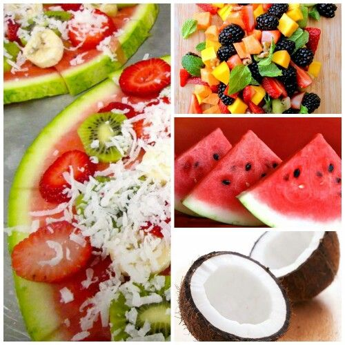 Meloentaart. Van meloen, fruit en kokossnippers :-)