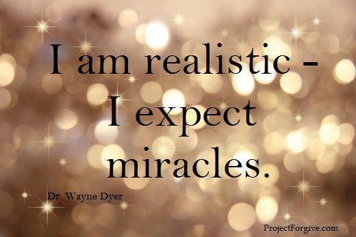 Ich bin realistisch...ich erwarte Wunder