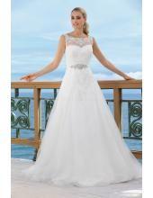 Pláž / Destinace Okouzlijící & dramatický Zip Svatební šaty na zakázku