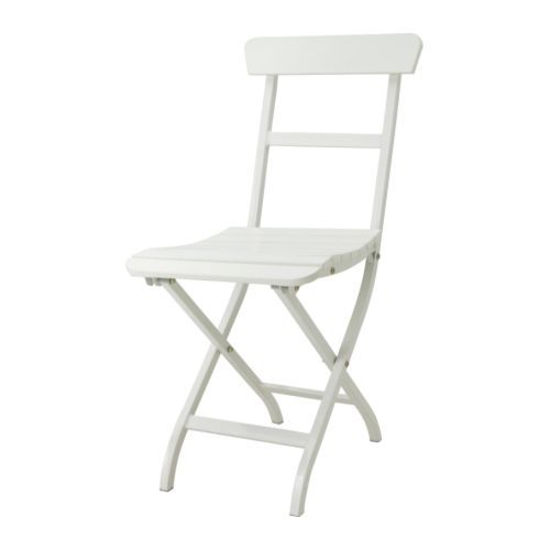 MÄLARÖ Chaise pliante - blanc  - IKEA FRANCE - 32E - for the courtyard?