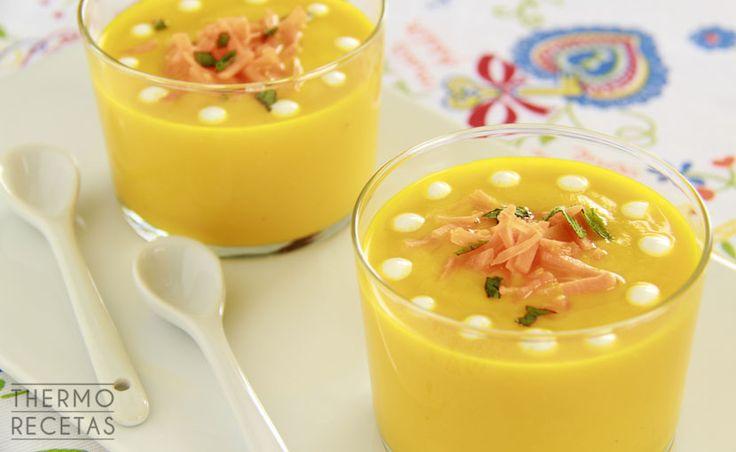 Vasitos de crema fría de zanahoria - http://www.thermorecetas.com/vasitos-crema-fria-zanahoria/