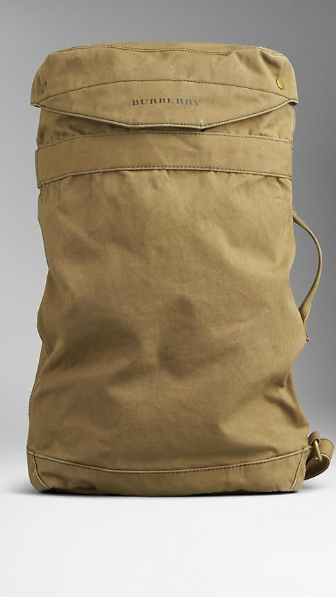 Cotton Canvas Military Backpack | Burberry