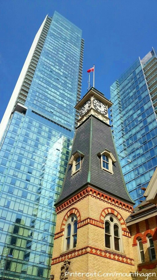 old and new buildings in Bloor Yorkville, Toronto