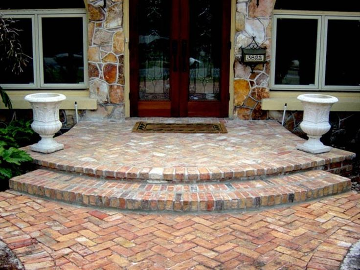 105 best front porch steps images on pinterest - Brick porch steps designs ...