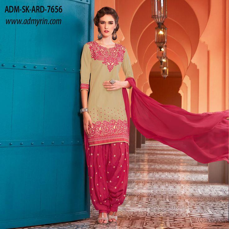 Launching ARADHNA || Patiala Style Dress Material with Bottom & Dupatta