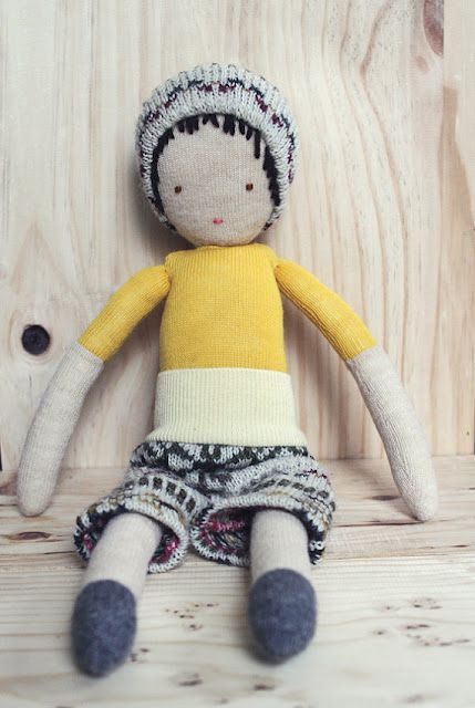 Ouistitine's handmade little boy dolls.