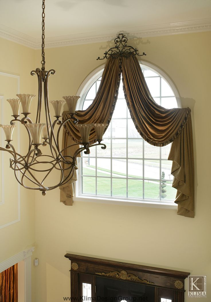 104 best arched window curtains images on pinterest for How to decorate an arched window