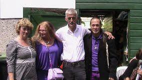 Samen met Tineke en Fred de ouders van de vermoorde Milly Boele uit Dordrecht