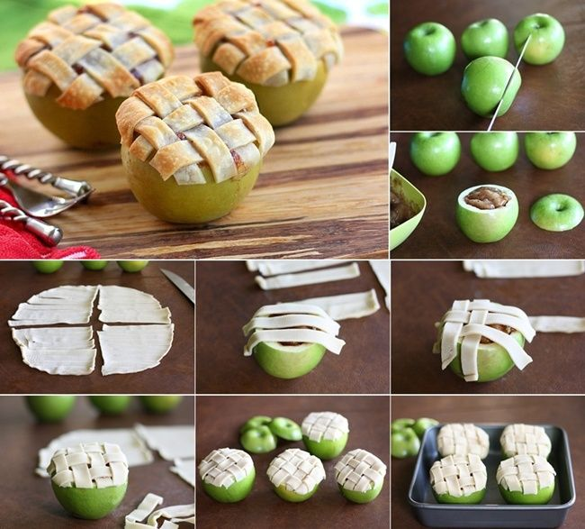 Mini Apple Pies Baked in Apples