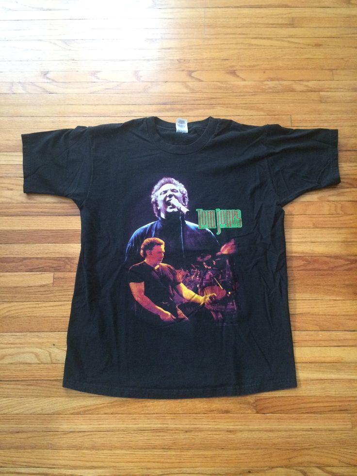 Vintage Tom Jones 1998 World Tour Band T-Shirt by VintageVanShop on Etsy