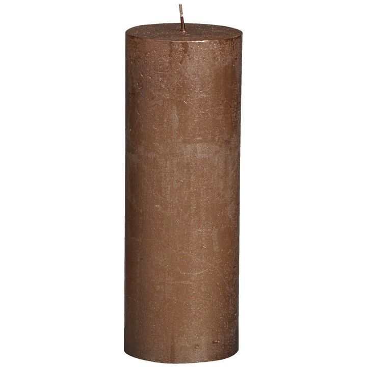 Stompkaars metal. Een koperbruine kaars voor op elke plek in huis. #intratuin