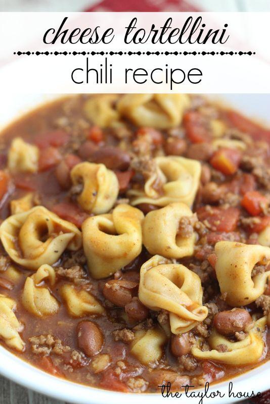 Cheese Tortellini Chili