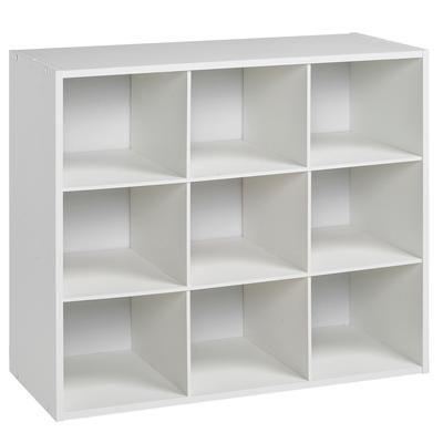 BLACK U0026 DECKER   Black U0026 Decker 9 Compartment Laminate Closet Organizer In  White