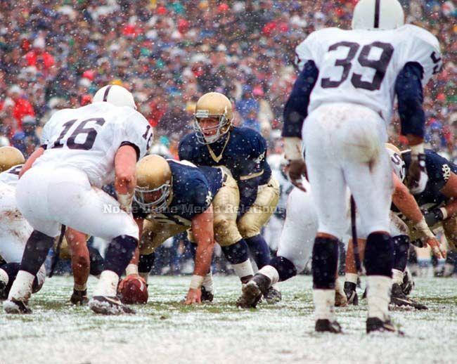 1992 Snow Bowl. Notre Dame vs Penn St. 17-16.