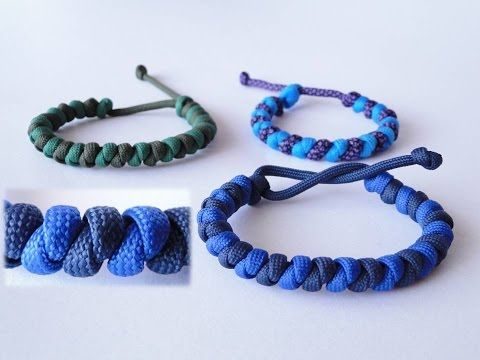 How to Make a Mad Max Style Basic Overhand Knot Paracord Bracelet-Two Color Version - YouTube
