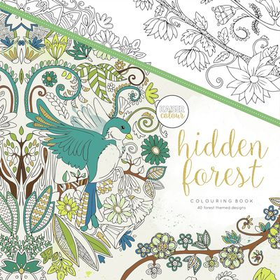 Kaisercraft Kaisercolour HIDDEN FOREST Adult Colouring Book CL516 - Crafty Inspiration