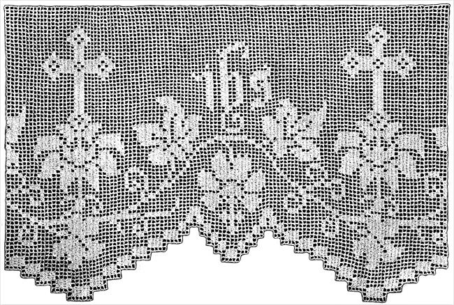Daffodil Altar Lace Filet Crochet Pattern | Claudia Botterweg Books