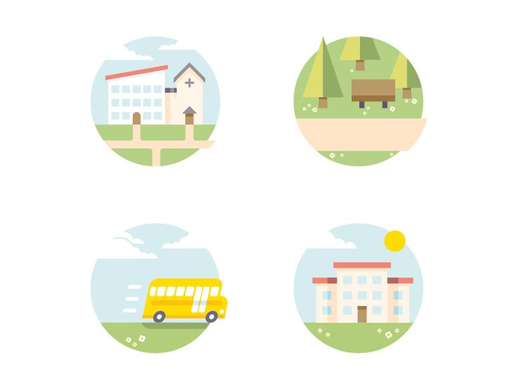 Flat Residential Real Estate Icons commisioned by www.onemadlab.com More to follow.