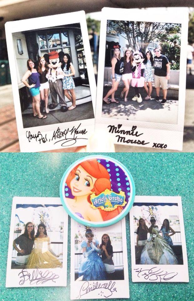 Disneyland polaroid pictures