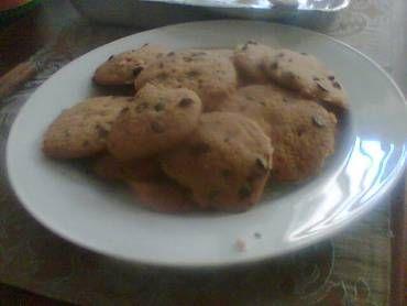 cookies com gota de chocolate