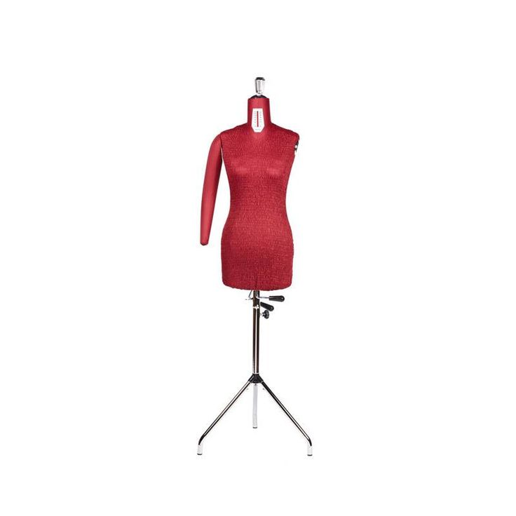 Casoli adjustable dressform /  mannequin with original red smocked cover