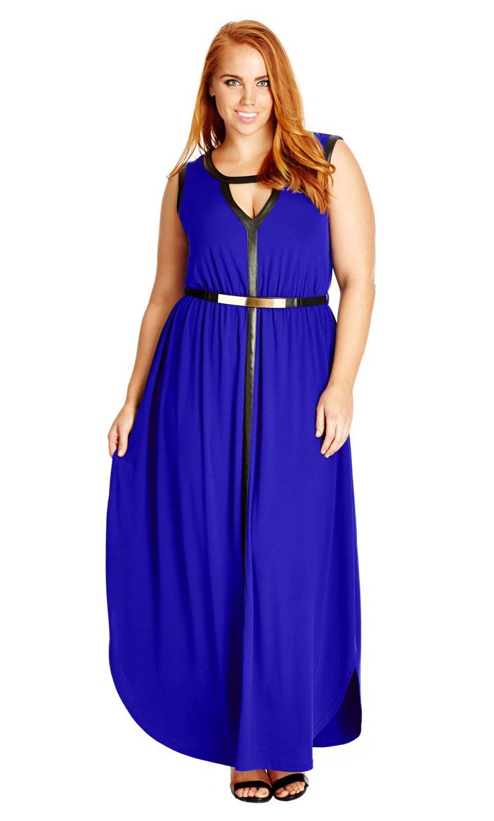 City Chic Colour Grecian Maxi Dress