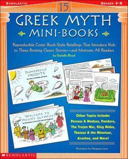 greek mythology comic for kids mini books