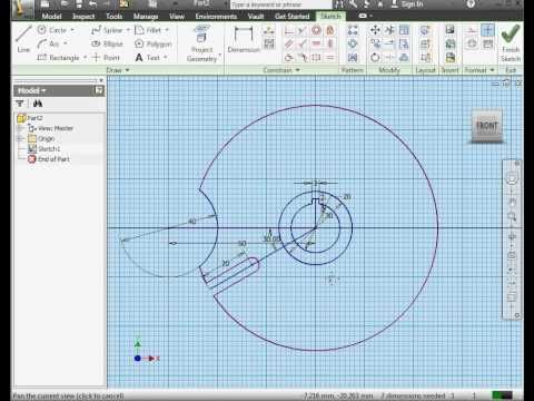 AutoDesk Inventor Video Tutorial - Modeling a Geneva Wheel - YouTube