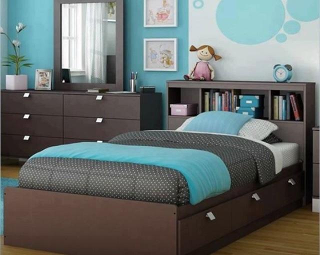 Como usar el azul para un cuarto de una nena o adolescente.
