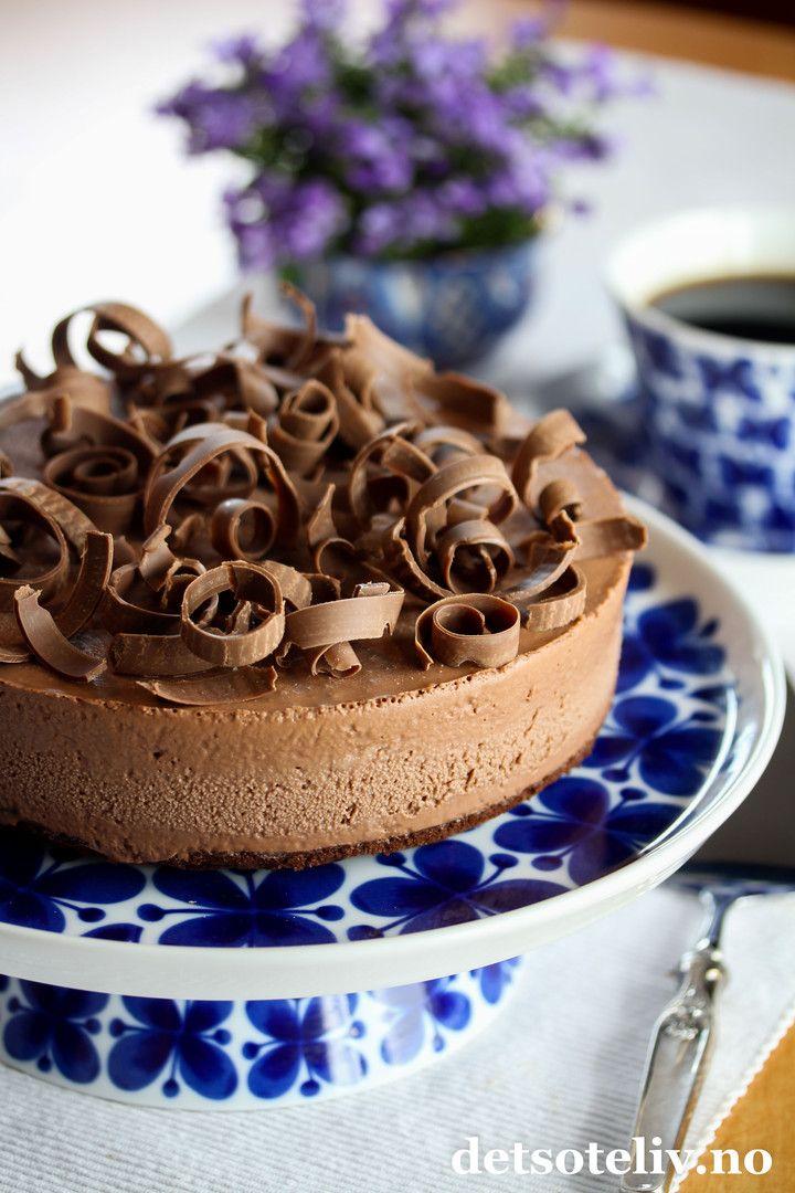 Sjokoladeiskake med kondensert  melk.