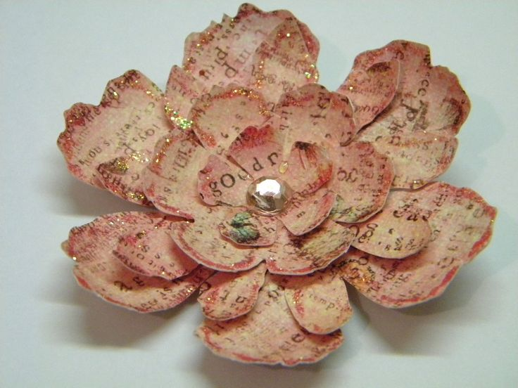 Tattered Floral Flower, like the printed and gold rimmed paper