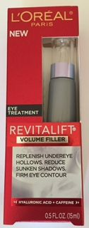 Daily Re-Volumizing Eye Treatment.  Its purpose is to replenish undereye areas and to reduce sunken shadows, and firm eye contour. I received this product complimentary for testing purposes.