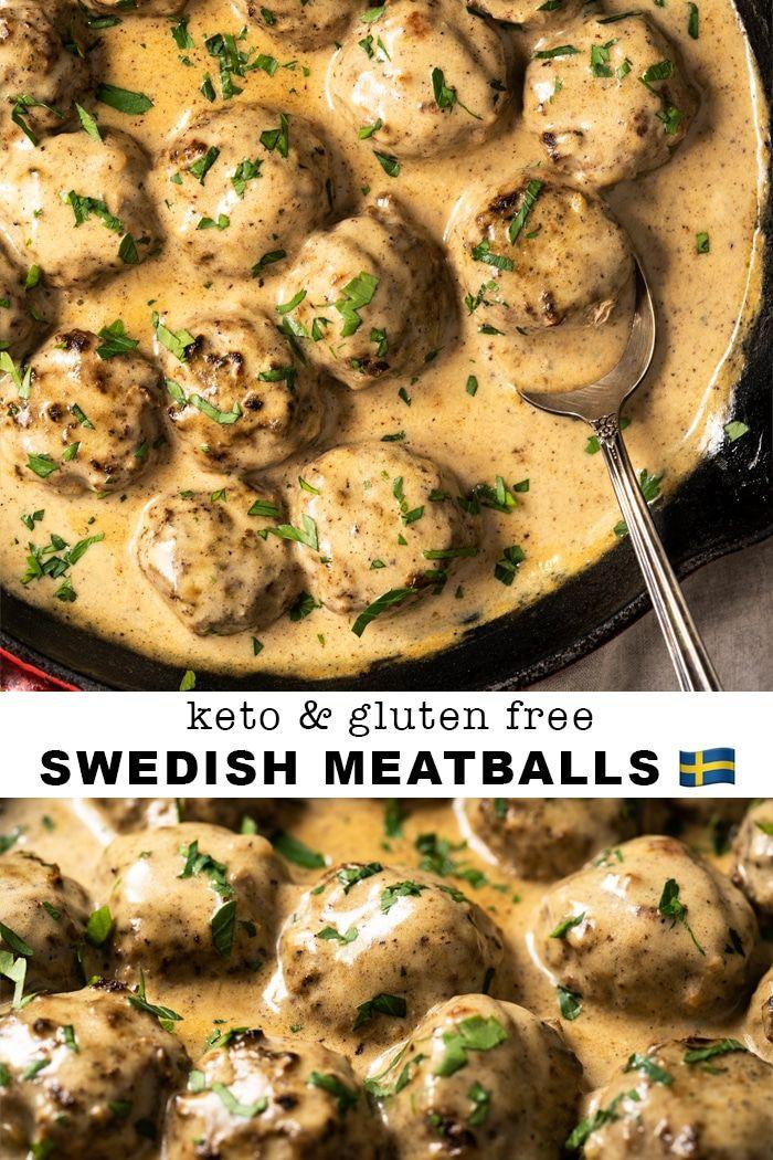 Gluten Free & Keto Swedish Meatballs #keto #glutenfree #lowcarb #ketorecipes