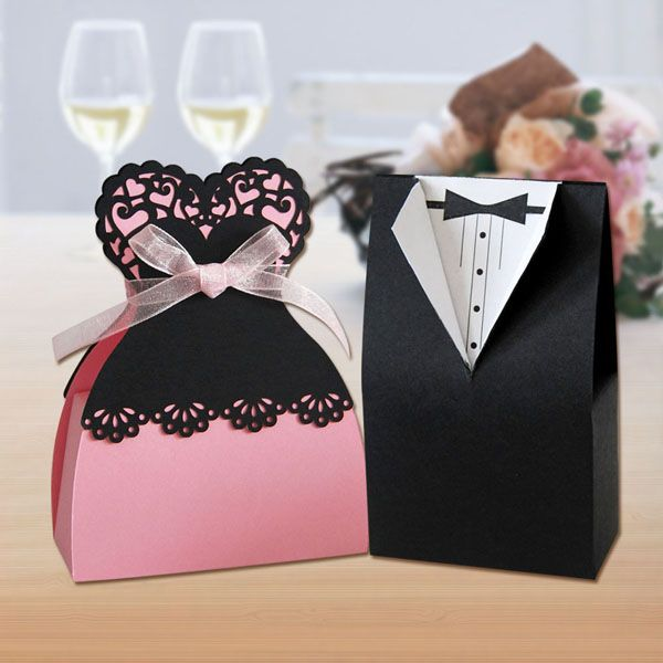 weddings, wedding favour boxes for bride and groom USD0.19~USD0.29 gift ...