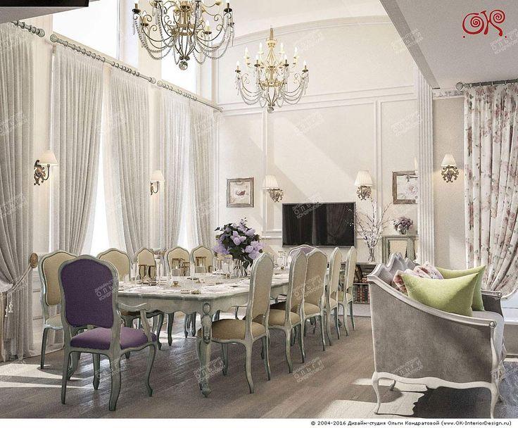 Картинки по запросу дизайн гостиной столовой в классическом стиле