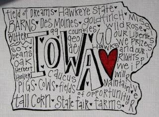 Love Me Some Iowa by Creative Genius Art, Lisbon, Iowa
