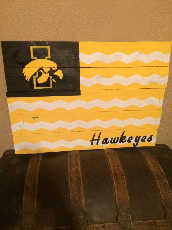 Iowa Hawkeye Sign By Craftywithapion On Etsy
