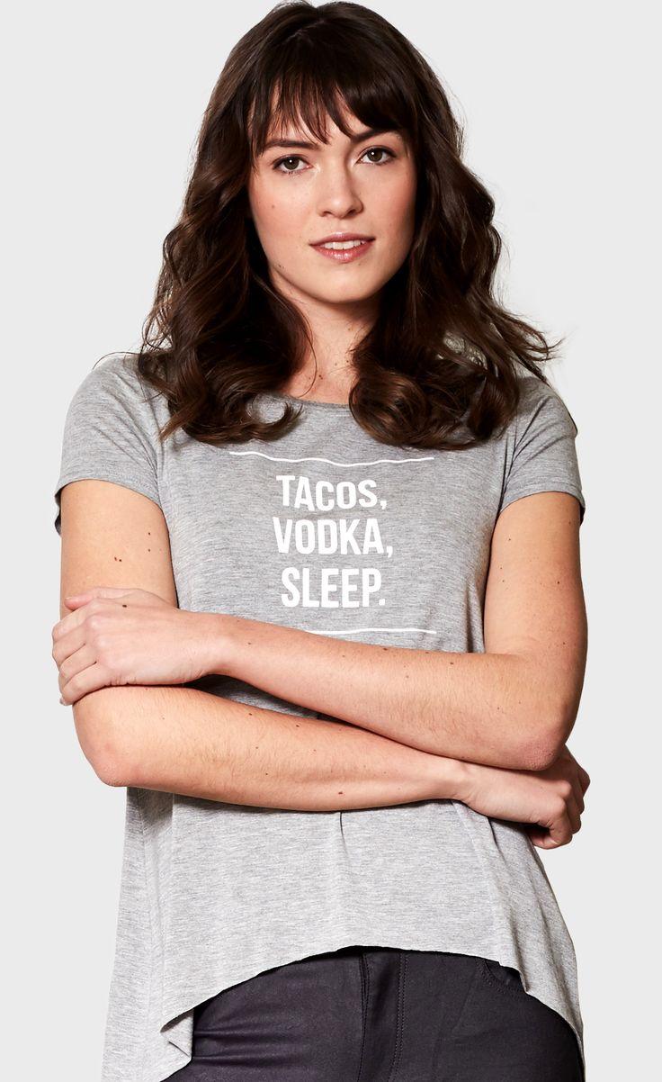 Tacos, Vodka, Sleep tee - #PinkMartiniCollection