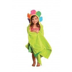 Zoocchini Toddler Bath Towel - The Flora the Flower hooded towel will be ready to dry your child off after every bath and swim.