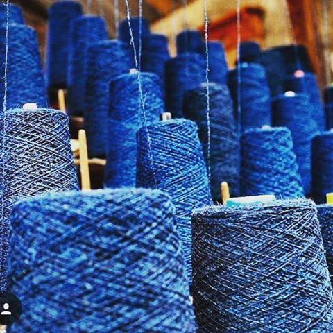 Beautiful indigo tweed yarns. The Big Cloth - a film exploring the Harris Tweed Weaving Community. Regram @nickdavid photographer @craftscouncil  #bigcloth #filmfestival #film #crafts #craftsposure #shortfilm #meetthemaker #makersbiz #makersmovement #scotland #woven #textiles #harristweed #heritage #indigo #tweed #weavers #blueloverlisareddings