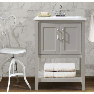 ceramic sink top 24inch single sink bathroom vanity