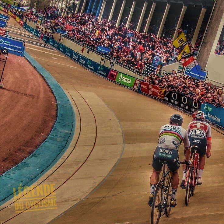 #larrivo #parisroubaix #2018 #cyclingphotos #cycling #sagan #chmpion #levelo #velodrome #cycles #bike #instabikes #legend #superstar…