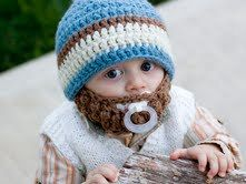 Now if someone could just have a little boy so that I could send them this baby knit hat with beard! LOL!