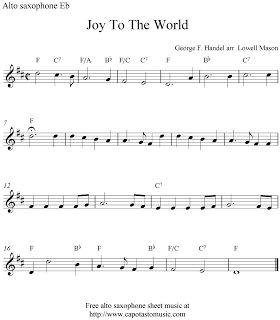 Free Sheet Music Scores: Alto saxophone Christmas