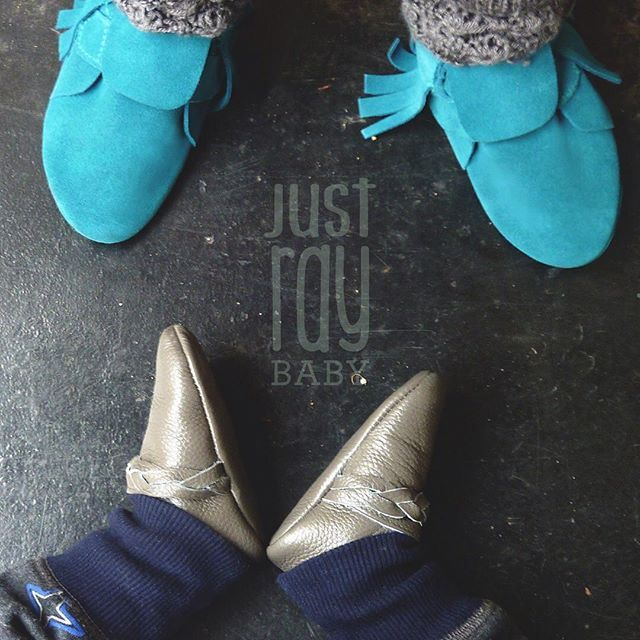Rail and hail, my kids are still rocking their moccs today.  Check out our expanding range on www.justray.com.au  #justraybaby #moccs #suede #leather #boy #girl #softsoles #babymoccs #moccasins #babygift #babyshoes #igers #ig_kids #igbabies #shopkidsfashion #shoplocal #shopsmall #instagood #picoftheday #rainhailorshine #love