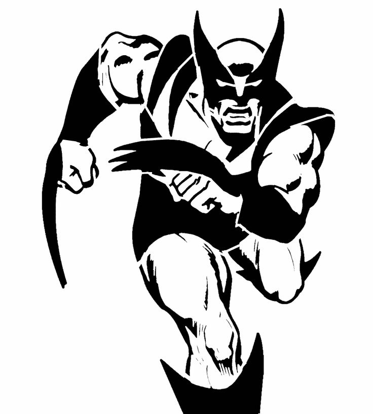 Wolverine stencil stencil patterns pinterest stencils and wolverines - Delectable picture of accessories for halloween decoration with various spiderman pumpkin stencil ...
