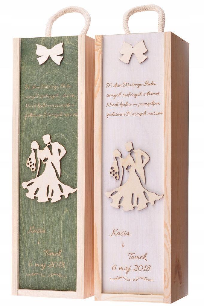 Eko Skrzynka Grawer Prezent Skrzynka Na Wino Slub 7550848252 Oficjalne Archiwum Allegro Decoupage Box Wine Gift Boxes Wooden Wine Boxes