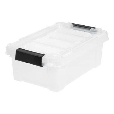 """IRIS Store It All Plastic Storage Totes Size: 6.50"""" H x 11.63"""" W x 18.13"""" D"""