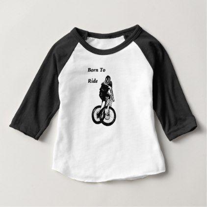 Mountain Biker MTB BMX CYCLIST Cyclo cross Baby T-Shirt - baby gifts giftidea diy unique cute